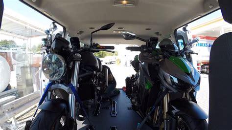 Vw T5 Motorradtransport by Motorrad Transport Im Ford Transit Custom
