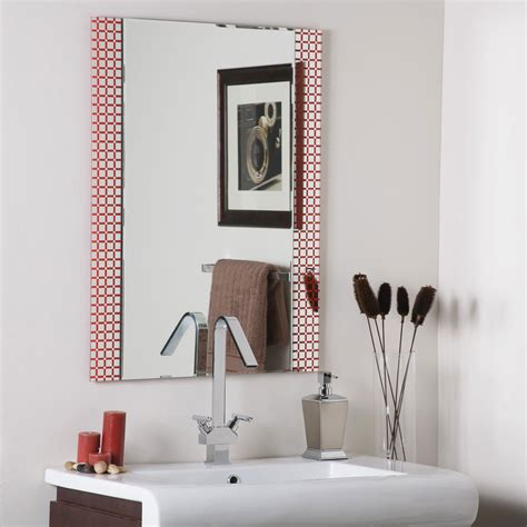 Square Bathroom Mirror Hip To Be Square Frameless Bathroom Mirror By Decor In Frameless Mirrors
