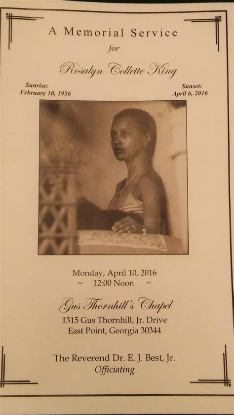 rosalyn king obituary east point legacy