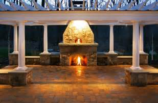Outdoor Fireplace Chiminea - pizza oven fireplace trellis amp patio traditional patio other metro by ambrosio