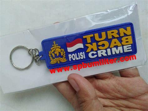 Sale Gantungan Kunci Turn Back Crime gantungan kunci rubber turn back crime polisi rubber