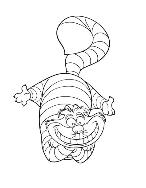 cheshire cat coloring pages az coloring pages