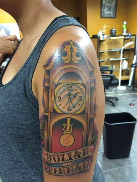 grandfather clock tattoo grandfather clock chest