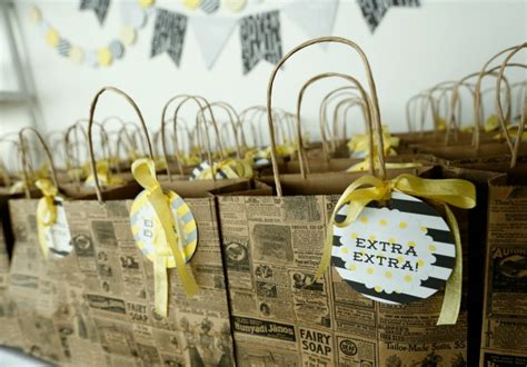 newspaper themed baby shower party reveal savannah guthrie s baby shower project nursery