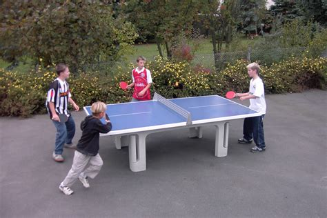 outside ping pong table table tennis play enthusiast s playground