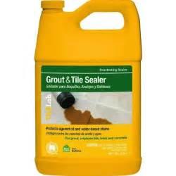 what of sealer is best for bathroom floor tile grout
