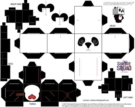 paper craft panda panda cubeecraft by jagamen on deviantart