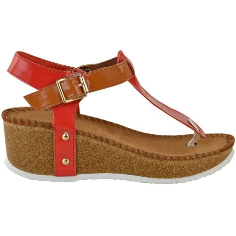 ladies comfort sandals new ladies womens wedge comfort sandals cushioned flip