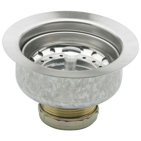 Shop Elkay Dayton 4 4062 In Stainless Steel Stainless Kitchen Sink Strainer