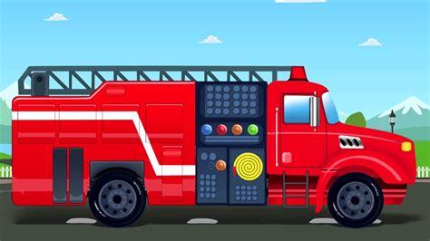 mobil garasi api truk kartun  anak populer anak