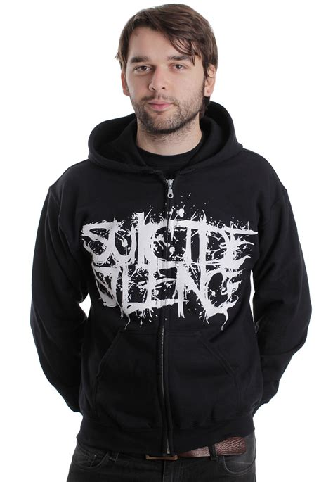 Jaket Hoodie Silence silence pull the trigger zipper impericon