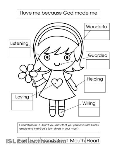 printable coloring pages god made me special 16 best images of i am special because worksheet god