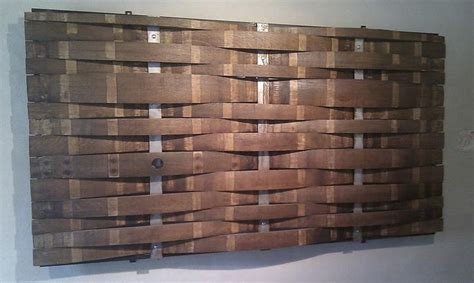 wine barrel headboard oak stave cladding google search td pinterest wine