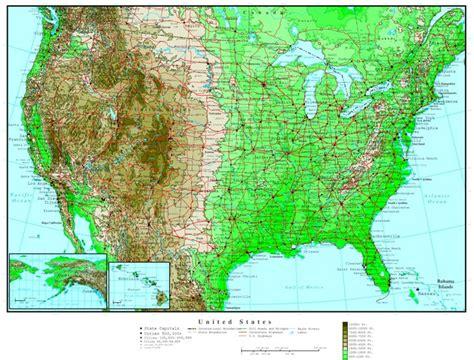 united states altitude map united states elevation map