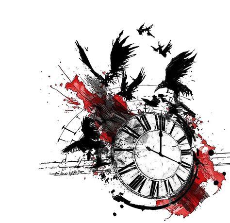 trash polka tattoo designs clock trash polka trash