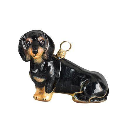 annapolis maryland black dog christmas ornament black dachshund sitting blown glass ornament walmart
