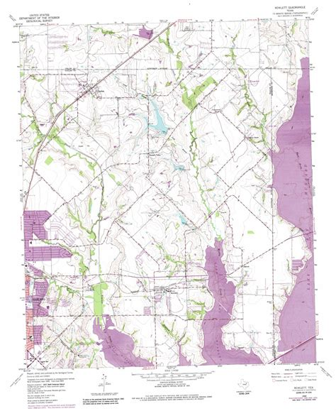 rowlett texas map rowlett topographic map tx usgs topo 32096h5