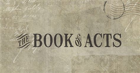 the book of acts series living