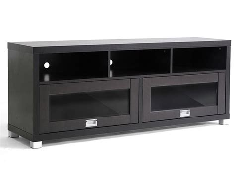 Baxton Swindon TV Stand w/Glass Doors   Woot