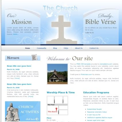 Church Free Website Templates In Css Html Js Format For Free Download 100 97kb Christian Church Website Templates Free