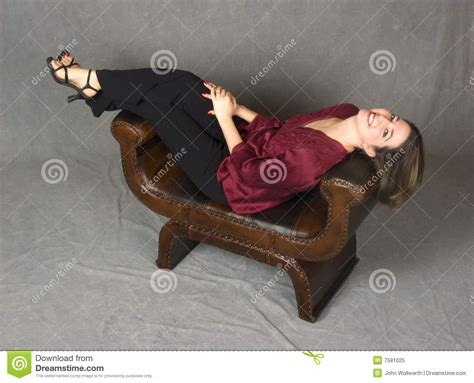 woman reclining beautiful everyday woman reclining royalty free stock