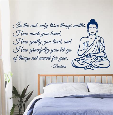 Country Themed Home Decor by Wall Decals Buddha Quote Yoga Gym Love Vinyl Sticker