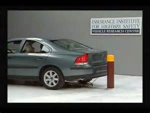 2002 S60 Volvo Problems Crash Test 2002 Volvo S60 5 M P H Rear Into Pole Iihs