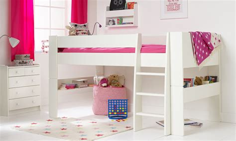 Ladder Desk And Bookcase Solitaire White Midsleeper