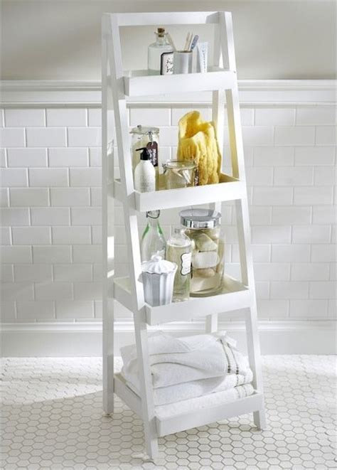 Ladder Bathroom Storage Floor Standing Ladder Contemporary Bathroom Cabinets And Shelves Sacramento By Pottery Barn