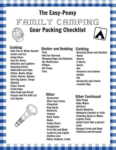 Big Farmhouse my easy peasy family camping checklist and a free