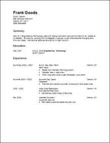 General Resume Exle by Career Services Sle Resumes