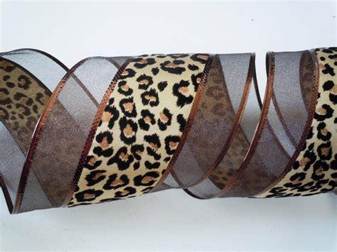 5yd brown cheetah leopard wreath safari wedding