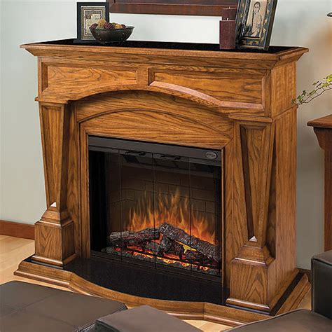 Oak Electric Fireplace by Hton Oak Electric Fireplace Mantel Package Sep O 4500