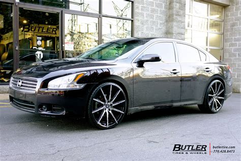 2006 nissan maxima tire size nissan maxima with 22in lexani css15 wheels exclusively