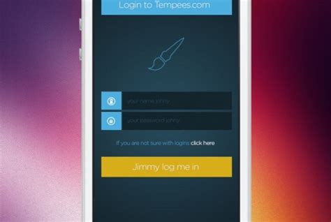 form design psd free download mobile login form in flat design psd file free download