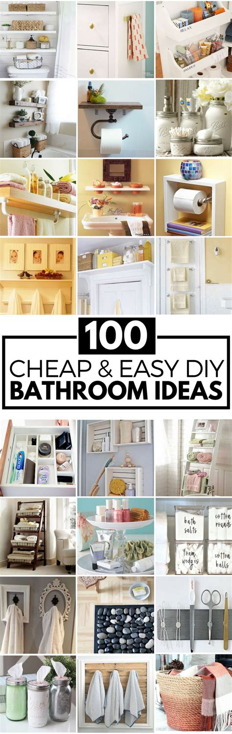 Diy Ideas For Bathroom by 100 Cheap And Easy Diy Bathroom Ideas Prudent Pincher