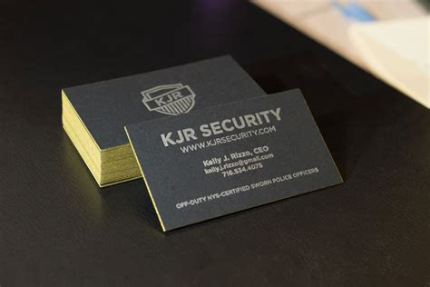 security officer card template kjr security inc identity design eric kenyon graphic