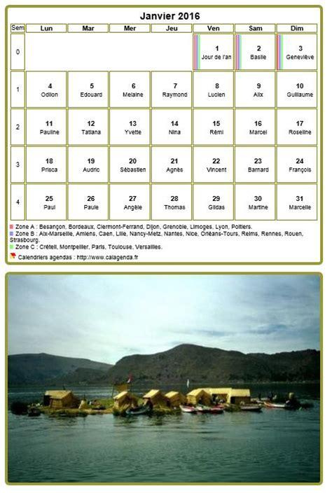 Calendrier 2016 Tableau Calendrier Mensuel 2016 Tableau Avec Photo