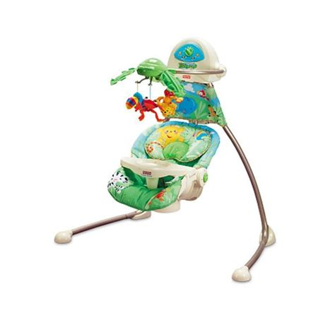 fisher price rainforest cradle swing bugaboo bee peg perego strollers phil and teds