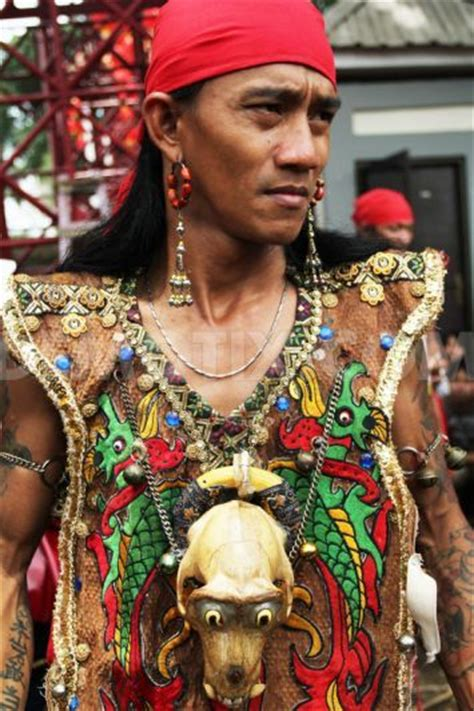 darius tattoo indonesia east java dayak tribe attends cap go meh new year celebration