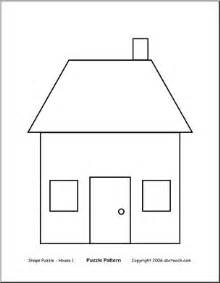 shape of house shape puzzle house b w easy cut out the shapes and arrange them into this shape of a house
