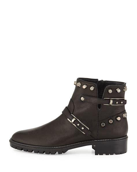 stuart weitzman ankle boots lyst stuart weitzman go west studded leather ankle boots