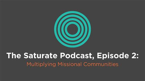 Divashop Podcast Episode 2 2 by Episode 002 Multiplying Missional Communities Saturate