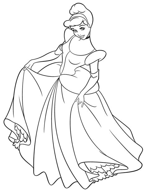 Free Coloring Pages Of Cinderella Printable Cinderella Coloring Pages