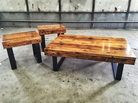 reclaimed wood tables boston reclaimed wood coffee table and end tables atcsagacity