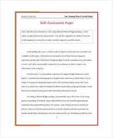 Self Improvement Essay by Self Assessment Essay Sle 5 Exles In Word Pdf