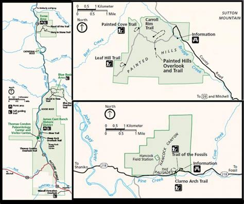 john day fossil beds map john day fossil beds map 28 images information about