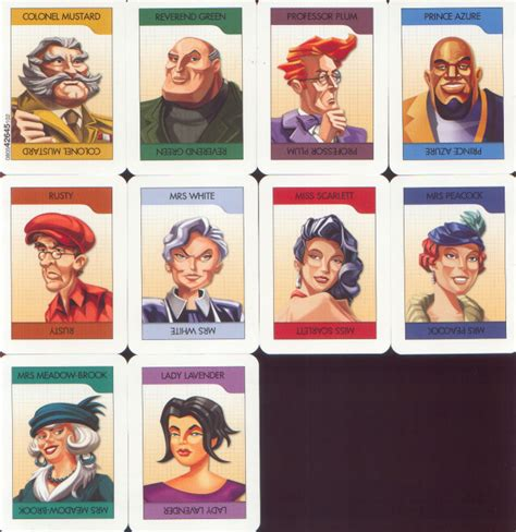 clue suspect card template clue cluedo miss drawforme