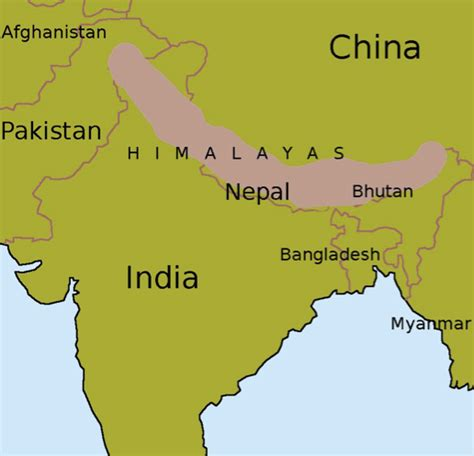 himalayan mountains map himalayas www imgkid the image kid has it