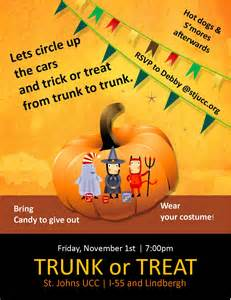 trunk or treat flyer template trunk or treat flyer templates 1